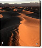 Mesquite Sand Dunes In Death Valley National Park At Sunrise Acrylic Print