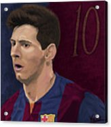 Messi-digital Oil Painting  Acrylic Print