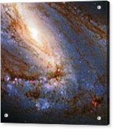 Messier 66 Galaxy Enhanced Acrylic Print