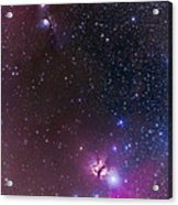Messier 78 & Horsehead Nebula In Orion Acrylic Print