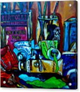 Messy Paints Acrylic Print