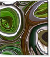 Metal Abstract Acrylic Print by Linnea Tober