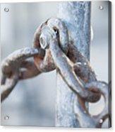 Metal Chain Railing Fragment Acrylic Print