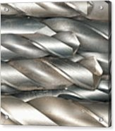 Metal Drill Bits Acrylic Print by Shannon Fagan