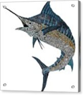 Metal Marlin Tribal Acrylic Print