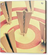 Metal Paper Planes In Target, Business Aims Acrylic Print