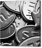 Metal Tags Acrylic Print
