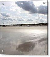Metallic Beach Acrylic Print