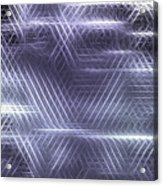 Metallic Cross Pattern  Acrylic Print