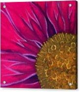 Metallic Flowers Acrylic Print