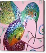 Metallic Hummingbird  Acrylic Print