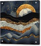 Metallic Mountains Acrylic Print