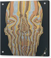 Metallic Skull Acrylic Print