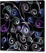 Metallic Swirls Acrylic Print