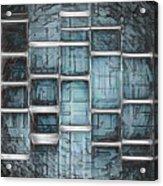 Metallic Topaz Dna Art Acrylic Print
