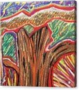 Metamorphosis Of The Great Tree Into Petrified Wood Acrylic Print