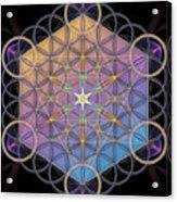 Metatrons Cube Acrylic Print