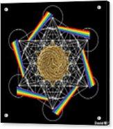 Metatron's Rainbow Healing Vortex Acrylic Print