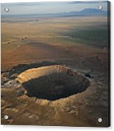 Meteor Crater Is The Best Preserved Acrylic Print by Stephen Alvarez