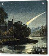 Meteor In Night Sky, 1868 Acrylic Print