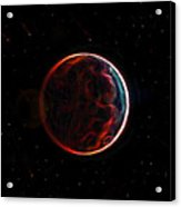 Meteor Shower Over Planet X Acrylic Print