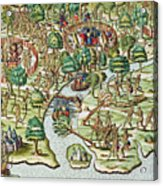 Methods Of Sieging And Attacking Acrylic Print by Theodore de Bry
