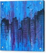 Metropolis In Blue Acrylic Print