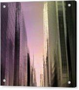 Metropolis Sunset Acrylic Print