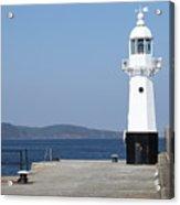 Mevagissey Lighthouse Acrylic Print