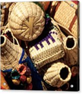 Mexican Baskets Acrylic Print