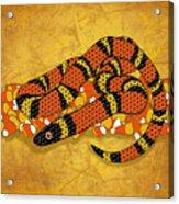 Mexican Candy Corn Snake Acrylic Print