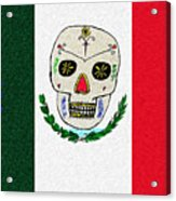Mexican Flag Of The Dead Acrylic Print