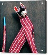 Mexican Folk Art Cat Acrylic Print