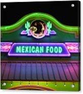Mexican Food Acrylic Print