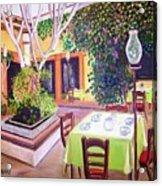 Mexican Garden Restaurant Acrylic Print