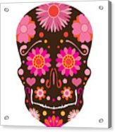 Mexican Skull Art Illustration Acrylic Print