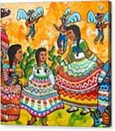 Mexican Women Acrylic Print