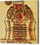 Mexico: Aztec Sacrifice Acrylic Print