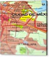 Mexico City Map. Acrylic Print