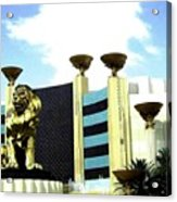 Mgm Lion In Las Vegas Acrylic Print