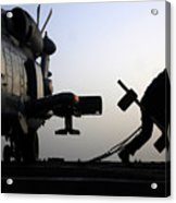 Mh-60r Sea Hawk Helicopter Is Ready For Duty Acrylic Print