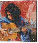 Mi Gitana Acrylic Print