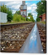 Mi New Haven Rail Road Reflections Acrylic Print