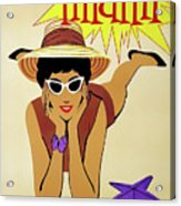 Miami Travel By Braniff Airways  1960 Acrylic Print