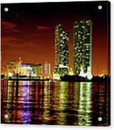 Miami At Night -1 Acrylic Print