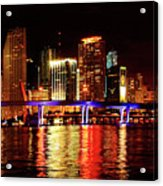 Miami At Night -2 Acrylic Print