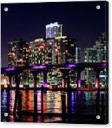 Miami At Night -3 Acrylic Print