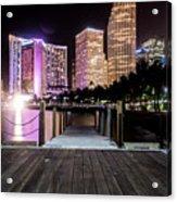 Miami - Bayside Market At Night Acrylic Print