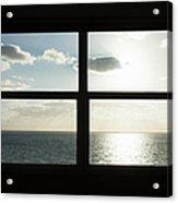Miami Beach Art Deco Window Over The Ocean Acrylic Print