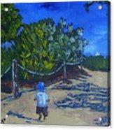 Miami Beach Path And Child Acrylic Print